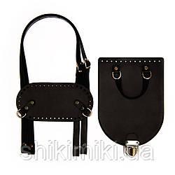 Рюкзачный комплект Saffiano з натуральної шкіри, колір чорний, матовий