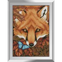 31241 Осенняя лиса. Dream Art. Набор алмазной живописи (квадратные, полная)