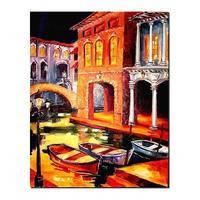 Холст на картоне  с контуром  Этюд  30х40 Города Венеция  хлопок/акрил  283814