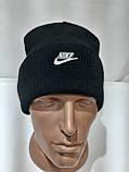 Зимняя мужская шапка с кашемиром отличного качества черная, фото 5