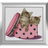 31418 Близнецы (котята). Dream Art. Набор алмазной живописи (квадратные, полная)