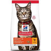 Hill's (Хиллс) Science Plan Adult with Chicken - Сухой корм с курицей для взрослых кошек (15 кг.)