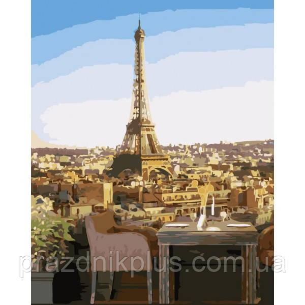 TCR3086 Вид на Эйфелеву башню. Colorum. Набор для рисования картины по номерам