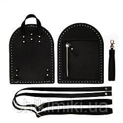 Рюкзачный комплект Zip из эко-кожи, цвет черный флотар