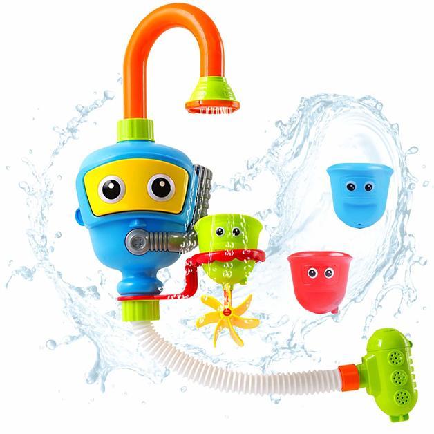 Игрушка для ванной Водопад робот голубой