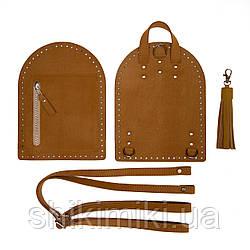 Рюкзачный комплект Zip из эко-кожи, цвет рыжий матовый