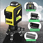 Лазерный уровень FIRECORE F93T-XG 3D 12 линий с треножкой, АКБ и очками - Зеленые Лучи, фото 9