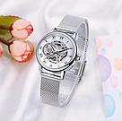 Женские часы Forsining механические часы скелетон, фото 5