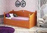 Кровать детская подростковая резная, массив ясень, фото 2