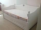 Кровать детская подростковая резная, массив ясень, фото 3
