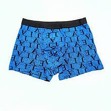 Труси чоловічі боксери бамбук Veenice блакитний букви 50 розмір