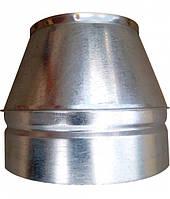 Конус для дымохода 180/250 нержавейка в оцинковке, фото 1