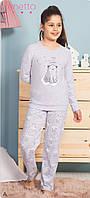 Трикотажная пижама с принтом созвездия медведицы и мишки для девочек 7-14 лет