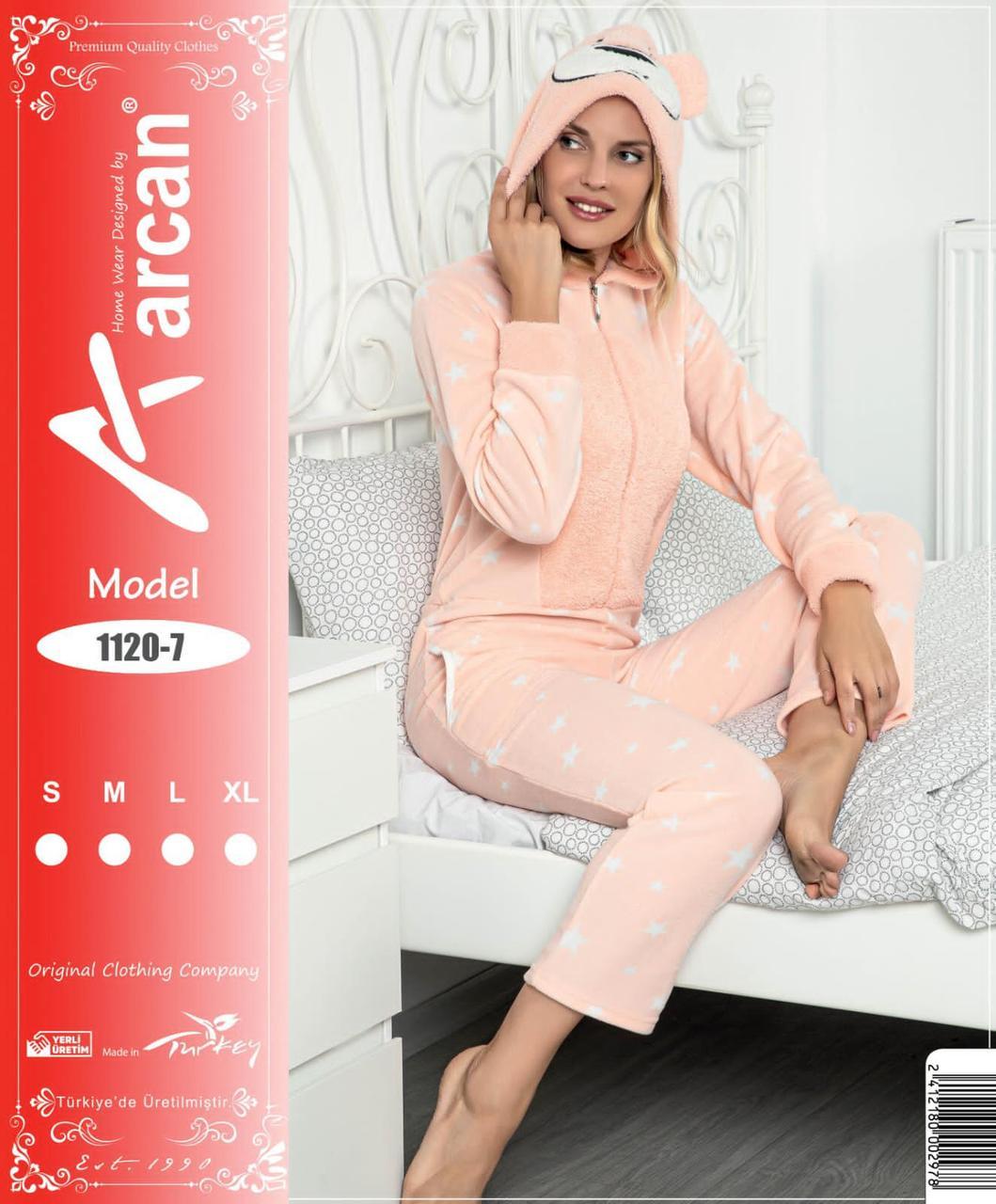 Пижама женская флисово-махровая,Женская махровая пижама,Новогодняя пижама