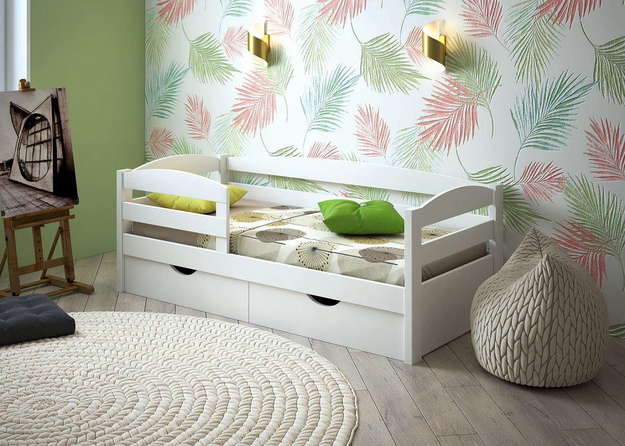 Кровать детская подростковая Нота Плюс, массив ольха