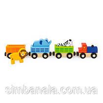 Набір для залізниці Viga Toys Поїзд-зоопарк (50822)