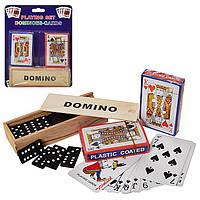 Домино + карты.Настольная игра домино.Набор для игры в карты и домино