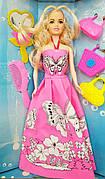 "Кукла типа Барби ""Модельер"" 6628-7 | Кукла для творчества ""Платье-раскраска"" | Лялька типу барбі модельер |"