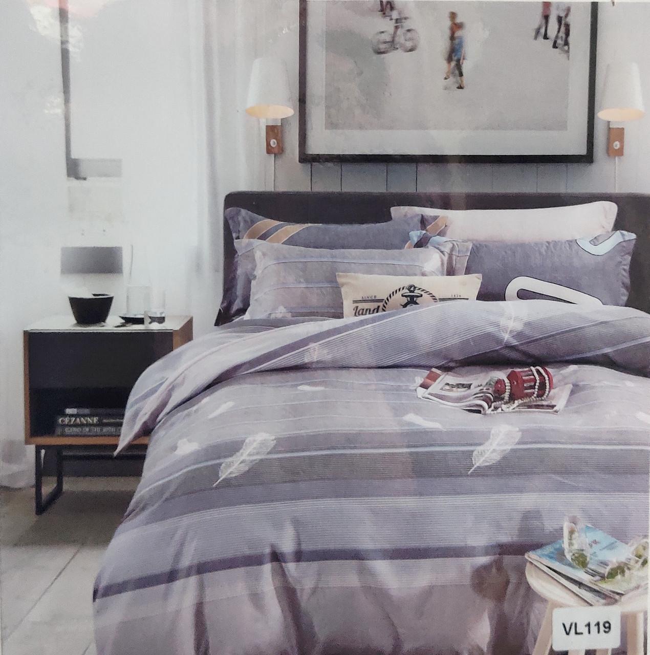 Комплект постельного белья микровелюр Vie Nouvelle Velour 200х220  VL119 евро