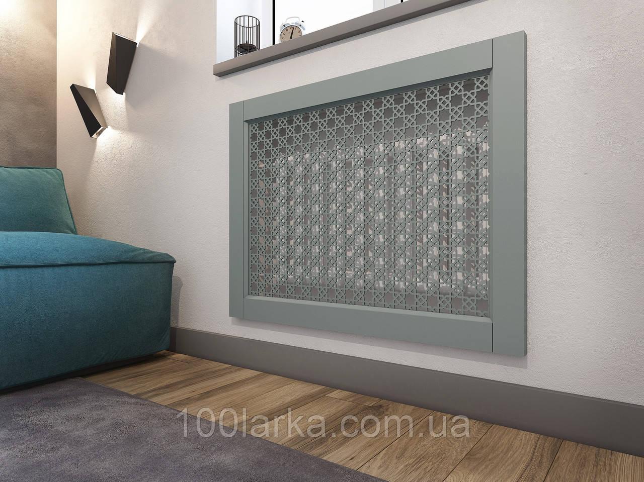 Решетки на батареи отопления, декоративный экран (фасад) на нишу батарей R102-F