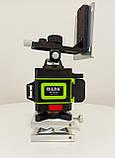Лазерный уровень Hilda 4D 16 линий с дисплеем заряда ➜ ПУЛЬТ ➜ Зеленые лучи, фото 4