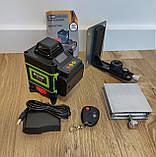 Лазерный уровень Hilda 4D 16 линий с дисплеем заряда ➜ ПУЛЬТ ➜ Зеленые лучи, фото 6