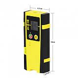 Приемник лазерный (ловушка) для лазерного уровня 5Гц Firecore, Huepar, Xeast (зеленый и красный лучи), фото 3