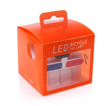Задний габаритный LED  фонарь для велосипеда BC-TL5454 Police Красно-синий (LTSS-026)