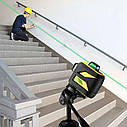 Лазерный уровень FIRECORE F93T-XG 3D 12 линий с треножкой, АКБ и очками - Зеленые Лучи, фото 6