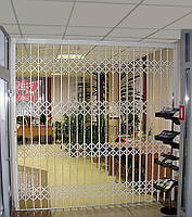 Раздвижная решетка на дверь Шир.2650*Выс2800мм для банка