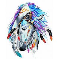 Картина по номерам Грациозный воин 40х50. Животные (лошадь) Идейка