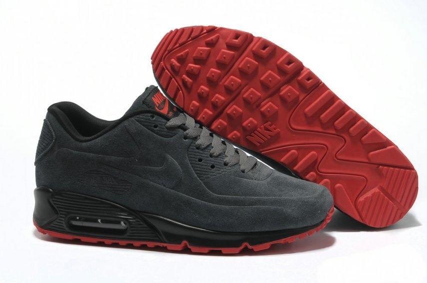 Кроссовки Nike Air Max 90 VT Gray Серые Замш