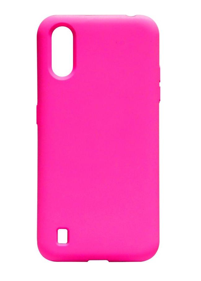 Чехол Silicone Case Full для Samsung A01 (A015) Hot Pink