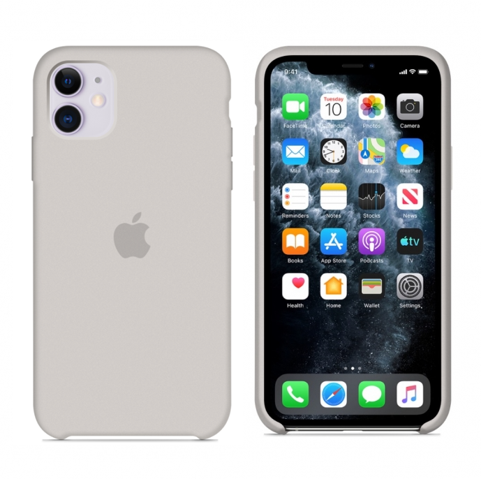 Чехол Silicone case для iPhone 11 Stone