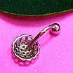 Серебряная серьга для пирсинга пупка - Пирсинг пупка серебро 925, фото 3