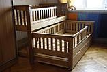 Кровать детская подростковая Карина, массив ольха, фото 4