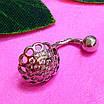 Серебряная серьга для пирсинга пупка - Пирсинг пупка серебро 925, фото 2