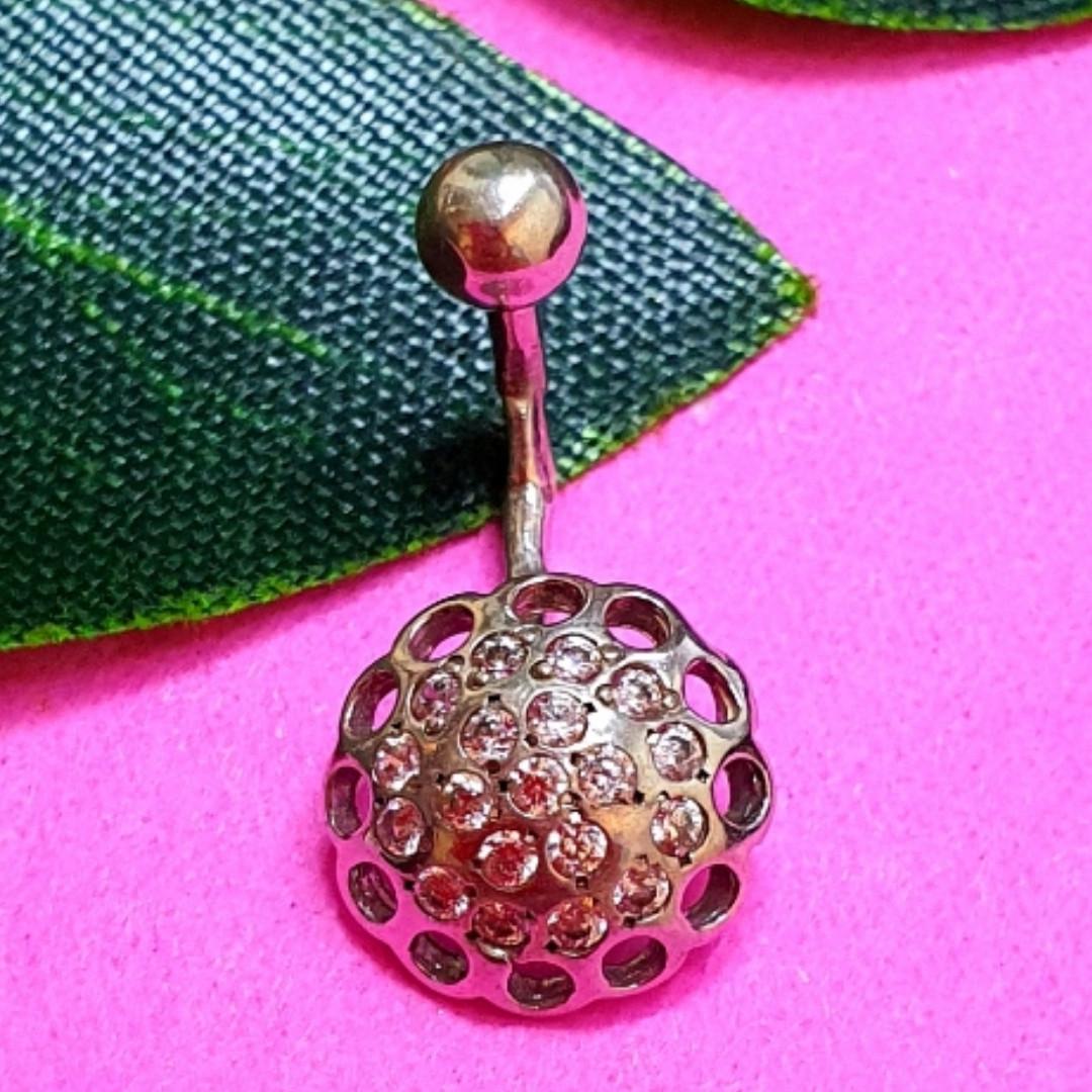 Серебряная серьга для пирсинга пупка - Пирсинг пупка серебро 925