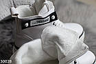 Демисезонные женские белые ботинки, экокожа, фото 5