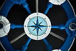 Люстра штурвал деревянная синяя  с компасом  на 6 лампочек, фото 8