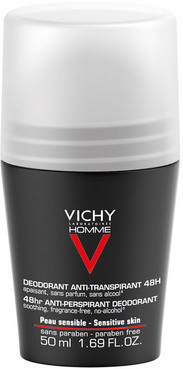 Дезодорант для чоловіків, екстра-сильної дії Vichy Homme Deodorant Anti-Transpirant 48H