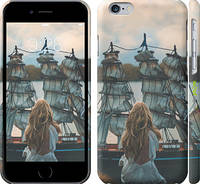 """Чехол на iPhone 6 Девушка и корабль """"2982c-45"""""""