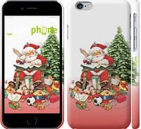 "Чехол на iPhone 6 Дед Мороз с подарками ""219c-45"""