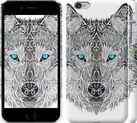 """Чехол на iPhone 6 Plus Узорчатый волк """"3039c-48"""""""
