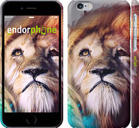 "Чехол на iPhone 6 Красочный лев ""110c-45"""