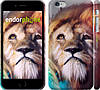 "Чехол на iPhone 6 Plus Красочный лев ""110c-48"""