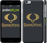 "Чехол на iPhone 6 Ssang Yong. Logo ""3191c-45"""