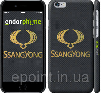 "Чехол на iPhone 6 Ssang Yong. Logo ""3191c-45"""