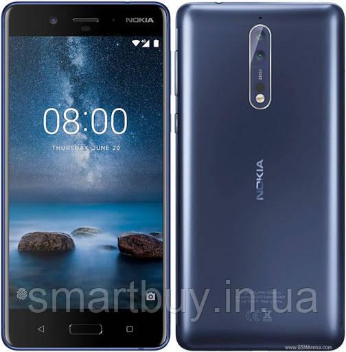 Nokia 8 4Gb/64Gb Tempered Blue (гарантия 3 месяца) + Защитное стекло на экран