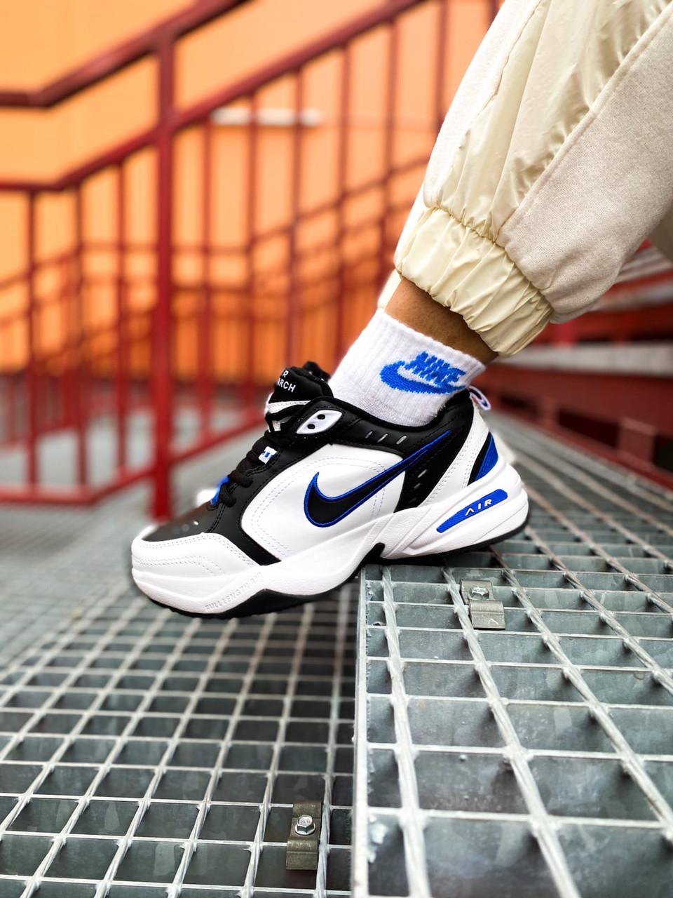 Мужские белые Кроссовки Nike Air Monarch
